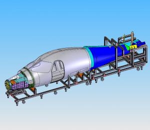 main   aft fuselage assy jig  iso view